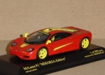 1/43 - McLaren F1 Roadcar - HEKORSA-Edition - red and yellow