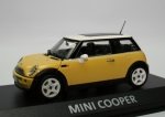 Mini Cooper (R50) - yellow - white top - 1/43