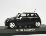 Mini Cooper (R50) - black met. - white top - 1/43
