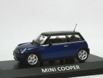 Mini Cooper (R50) - blue met. - black top - 1/43