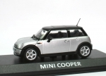 Mini Cooper (R50) - silver - black top - 1/43