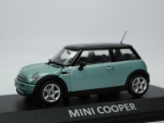 Mini Cooper (R50) - silk green met. - black top - 1/43