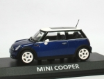 Mini Cooper (R50) - blue met. - white top - 1/43