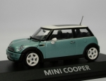 Mini Cooper (R50) - silk green met. - white top - 1/43